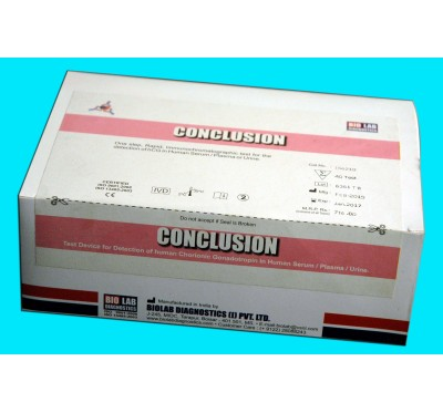 CONCLUSION  Ultra sensitive Pregnancy Strip Test