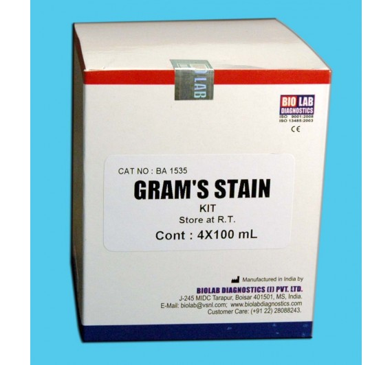 GRAM'S STAIN KIT (Ready to Use)