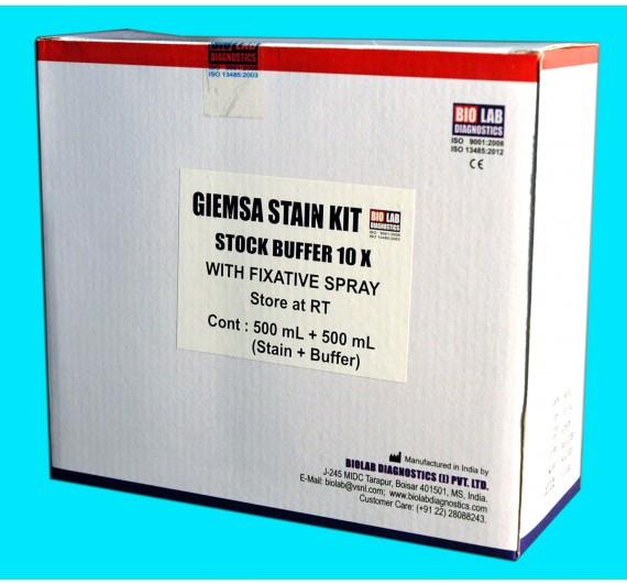 GEIMSA STAIN KIT    (With Buffer  10X & Easyfix Spray)