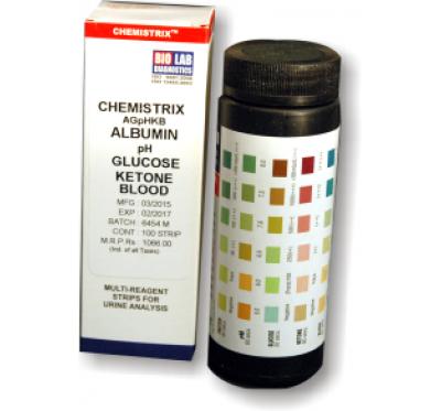 CHEMISTRIX - 5P BL           (Alb, Glucose, pH , Ketone & Blood)