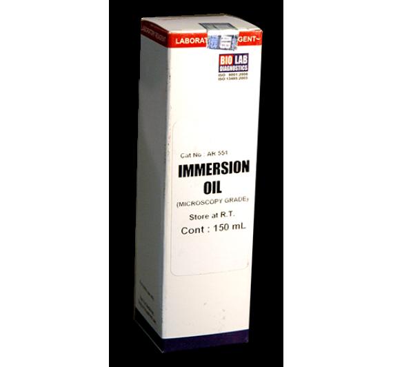 IMMERSION OIL (Microscopy Grade)      Dropping Bottle