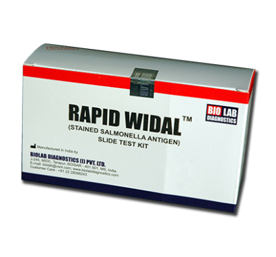 RAPID WIDAL  (O, & H) Slide Test