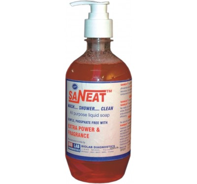 SANEAT LIQUID SOAP        (Phosphate Free) (Extra Powder & Fragnance) with Dispenser