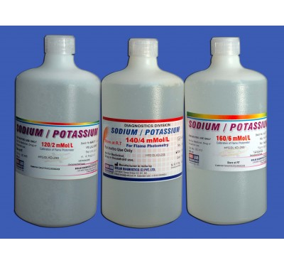 SODIUM POTTASSIUM STD    160/6   (For Flame Photometer   (Ready to use)