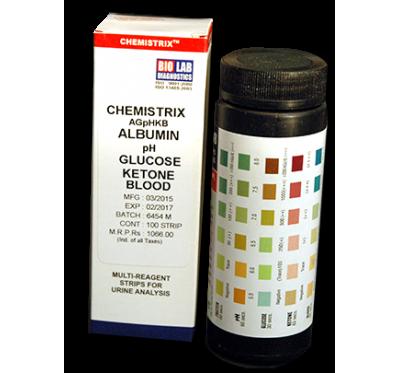 CHEMISTRIX - 5P   SG (Alb,Glucose,pH,Ketone & SG)